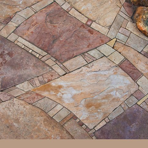 Mosaic Flagstone Walkway Background, Closeuo, Full Frame