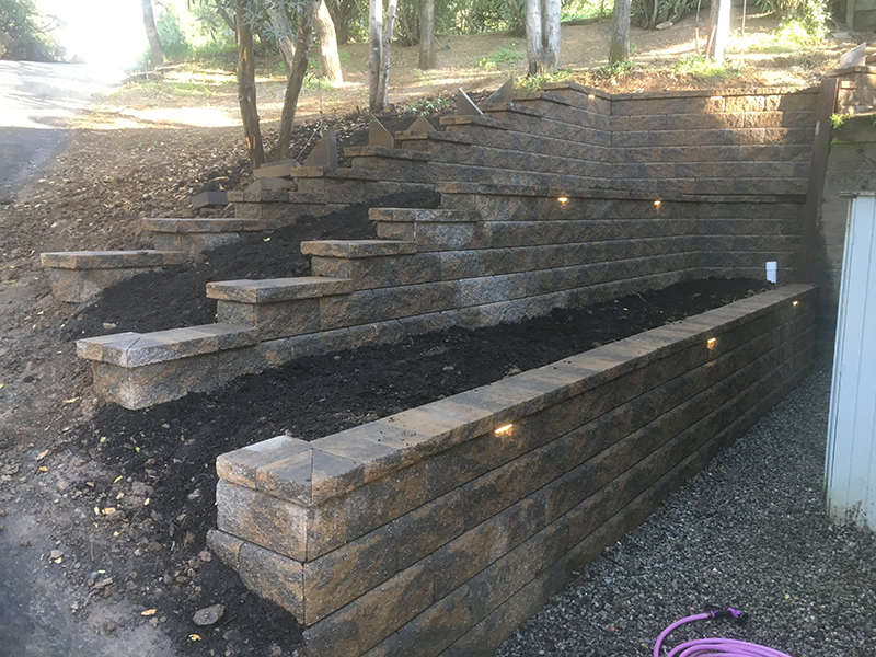 Retaining Wall/Lighting