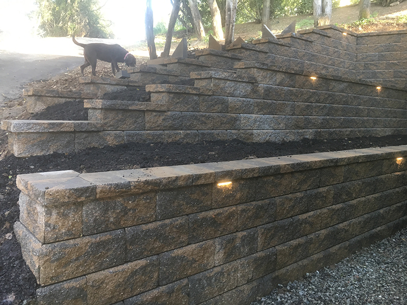 Project Description. Retaining Wall. Lighting